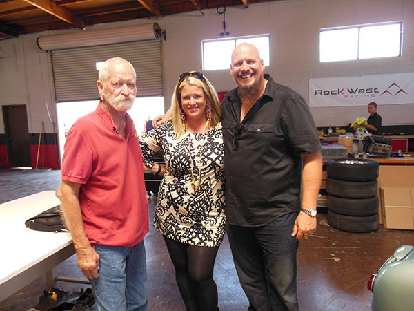 Tom McBurnie with Meg and Jeff from The Car Chasers