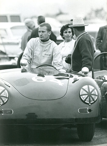 McBurnie in his Porsche 356 Speedster at Santa Barbara in 1965