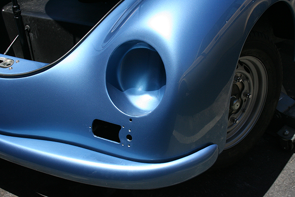 Speedster Kit - detail shot of blue exterior