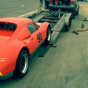 RW GTS being loaded for transport