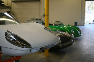 Classic Cars in new Rock West Racing facility