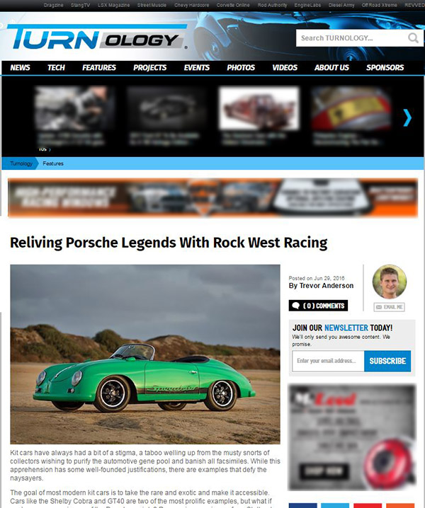 Turnology - Reliving Porsche Legends with Rock West Racing June 2016
