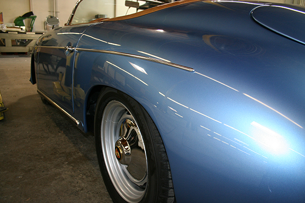 Blue Speedster Side Shot