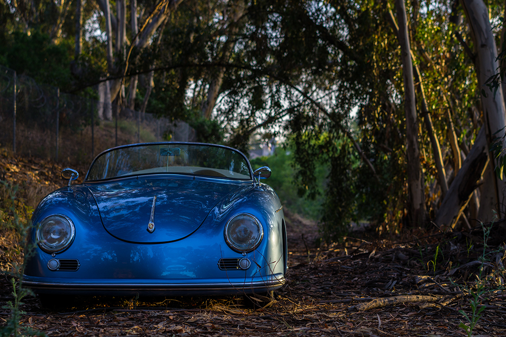 RW Speedster - Blue, in the woods